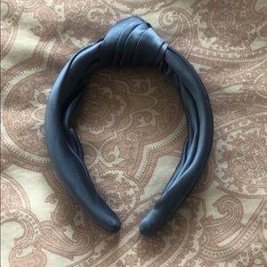 J.Crew Slate Blue Satin Turban Knot Headband